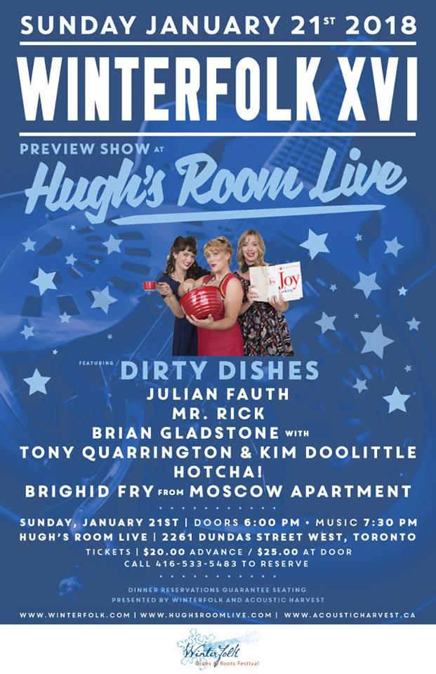 Hugh's Room Live presents Winterfolk XVI Preview