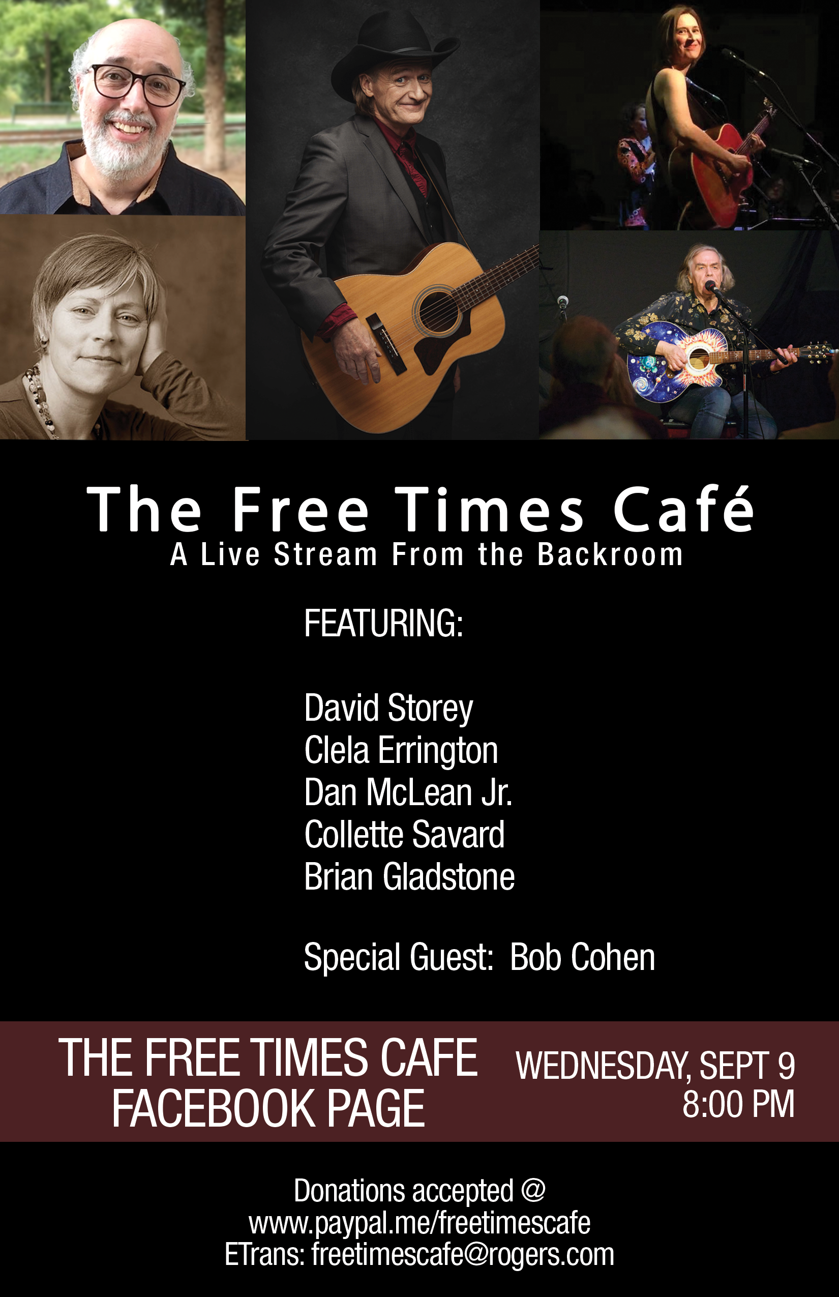 Streaming Live from Freetimes Sept 9